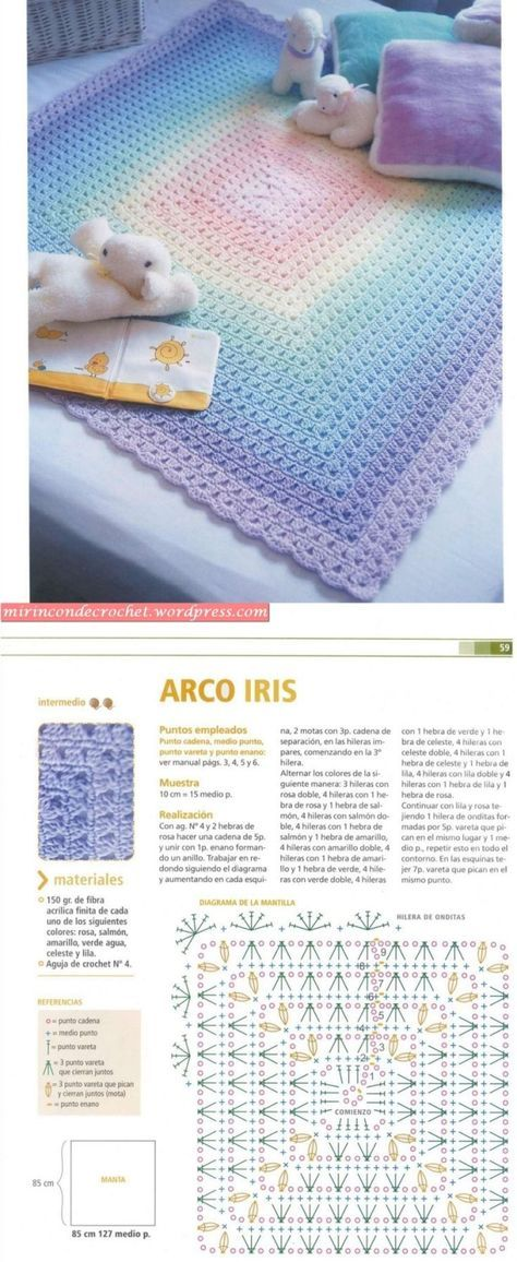 Baby blanket - it\'s like a granny square in reverse :-) #crochet ...
