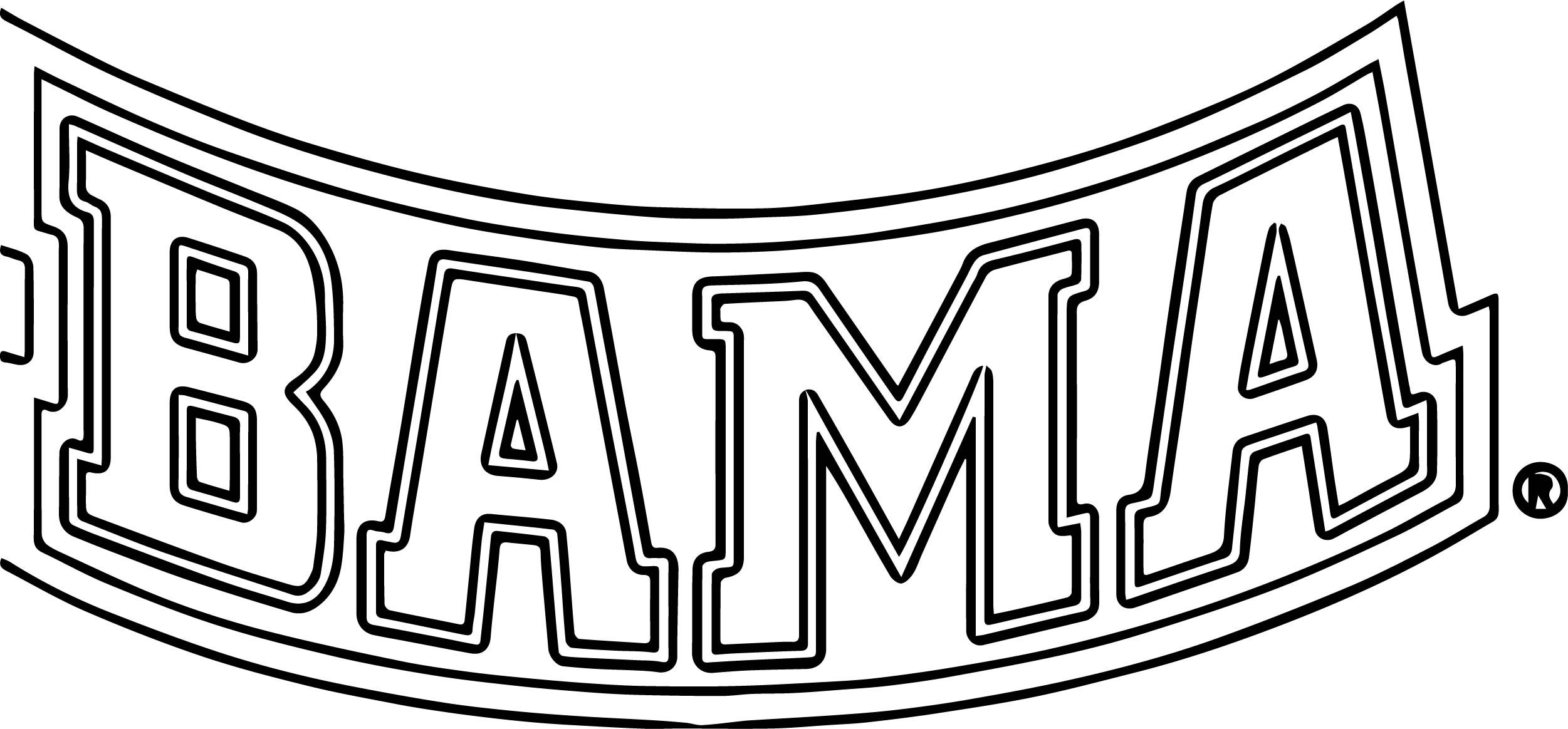 Bama Text Logo Coloring Page Coloring Pages Drawing Quotes Text Logo