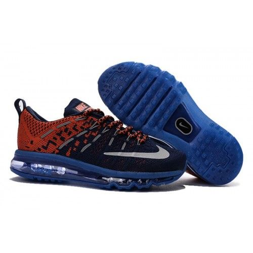 acquistare youth nike air max 2016 flyknit print scarpe obsidian light rosse reflect argento 820331