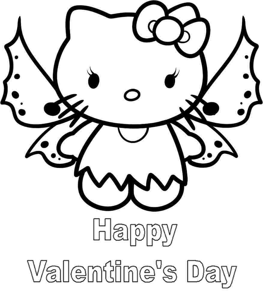 Coloring Sheets Hello Kitty Valentine Printable For Kids 9569 Hello Kitty Colouring Pages Kitty Coloring Valentines Day Coloring Page