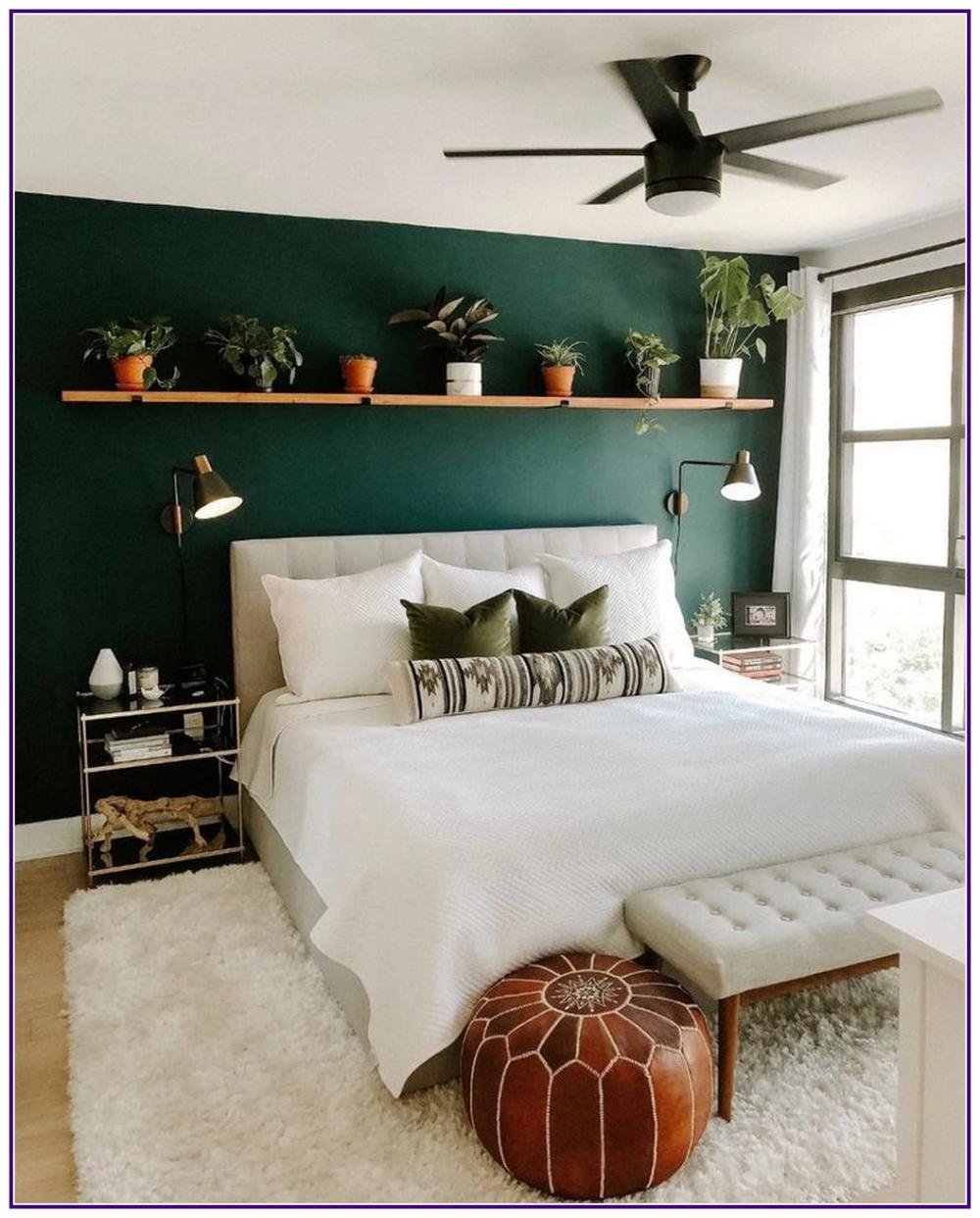 12 Fancy Wall Decor Ideas To Beautify Your Bedroom Aux Pays Des Fleurs Com Bedroom Interior Green Bedroom Walls Bedroom Design