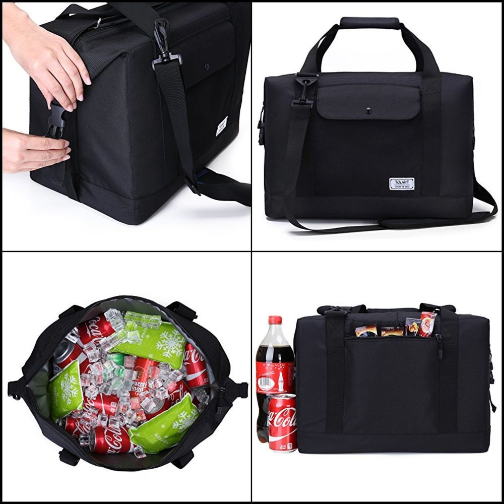Soft Sided Travel Cooler Bag Large Capacity 32L Road Beach