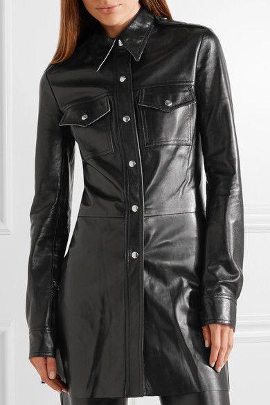 CALVIN KLEIN 205W39NYC   Leather shirt   NET-A-PORTER.COM   Digging ... ed03d692a7e2
