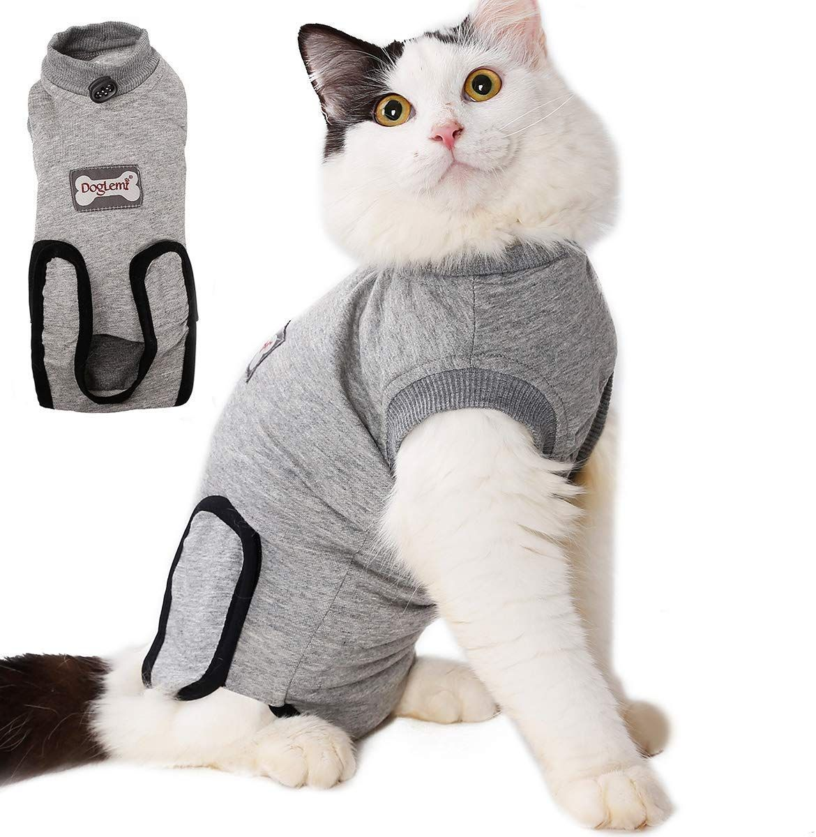 Lemon Pet Cat Surgery Recovery Cotton Cosy Clothes Vest Kittens Costume Suit For Abdominal Wounds Skin Diseases Surgical Cats Y Cat Pet Supplies Cats Pets