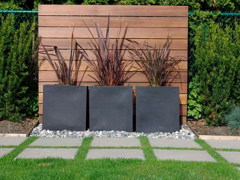 Modern design garden border ideas with landscape outdoor for Contemporary backyard landscaping ideas
