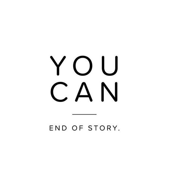 You Can End of Story - Inspiration Quote - Motivation Print - Minimalistic Wall Art - Motivation Printable - Scandinavian Nordic Print