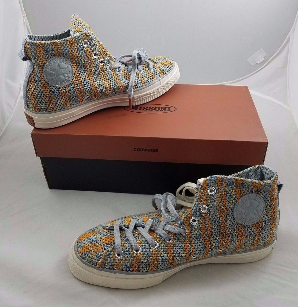 a2ffbdec247 CONVERSE X MISSONI CTAS  70 HI High Rise WOVEN MESH MENS 10 WOMENS 12 Blue   CONVERSE  AthleticSneakers