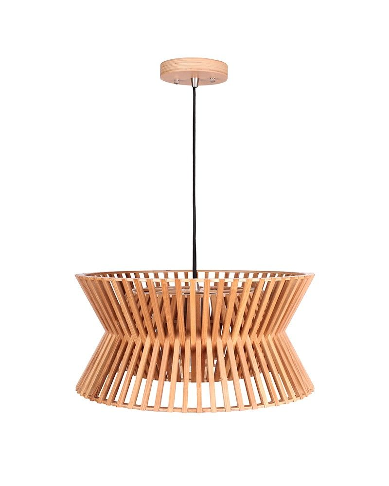 Modern style sandglass shape wooden pendant light lights and fans