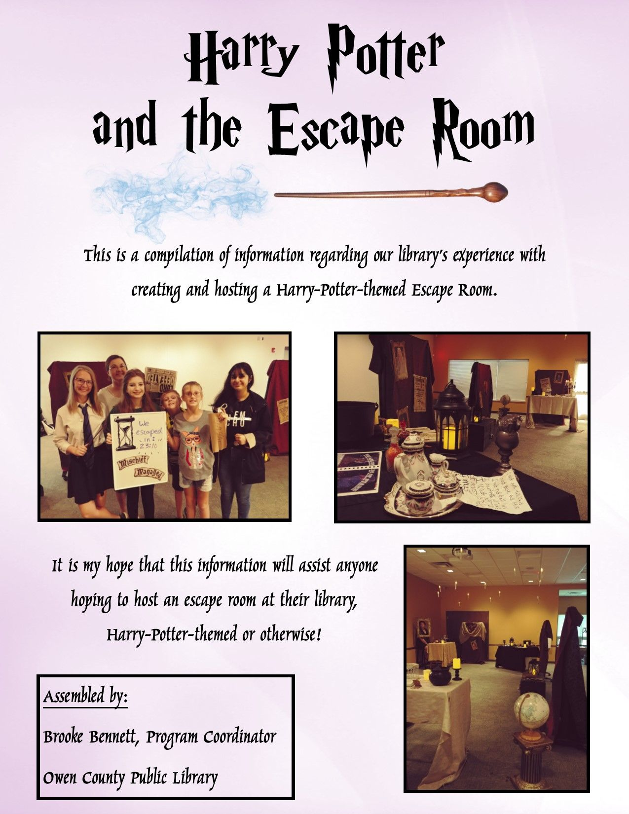 Harry Potter And The Escape Room Escape Room Harry Potter Library Escape Room For Kids