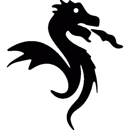 Simbolo Del Dragon De Japon Icono Gratuito Free Icon Freepik Icon Freeanimal Freefuego Freejapon Freeani Dragon Silhouette Dragon Icon Black Silhouette