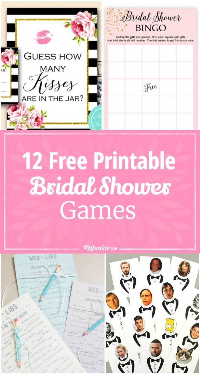 12 free printable bridal shower games via tipjunkie