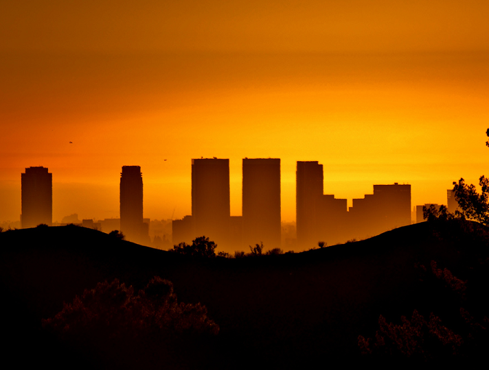 Sunset View Of Century City From Griffith Park I Love L