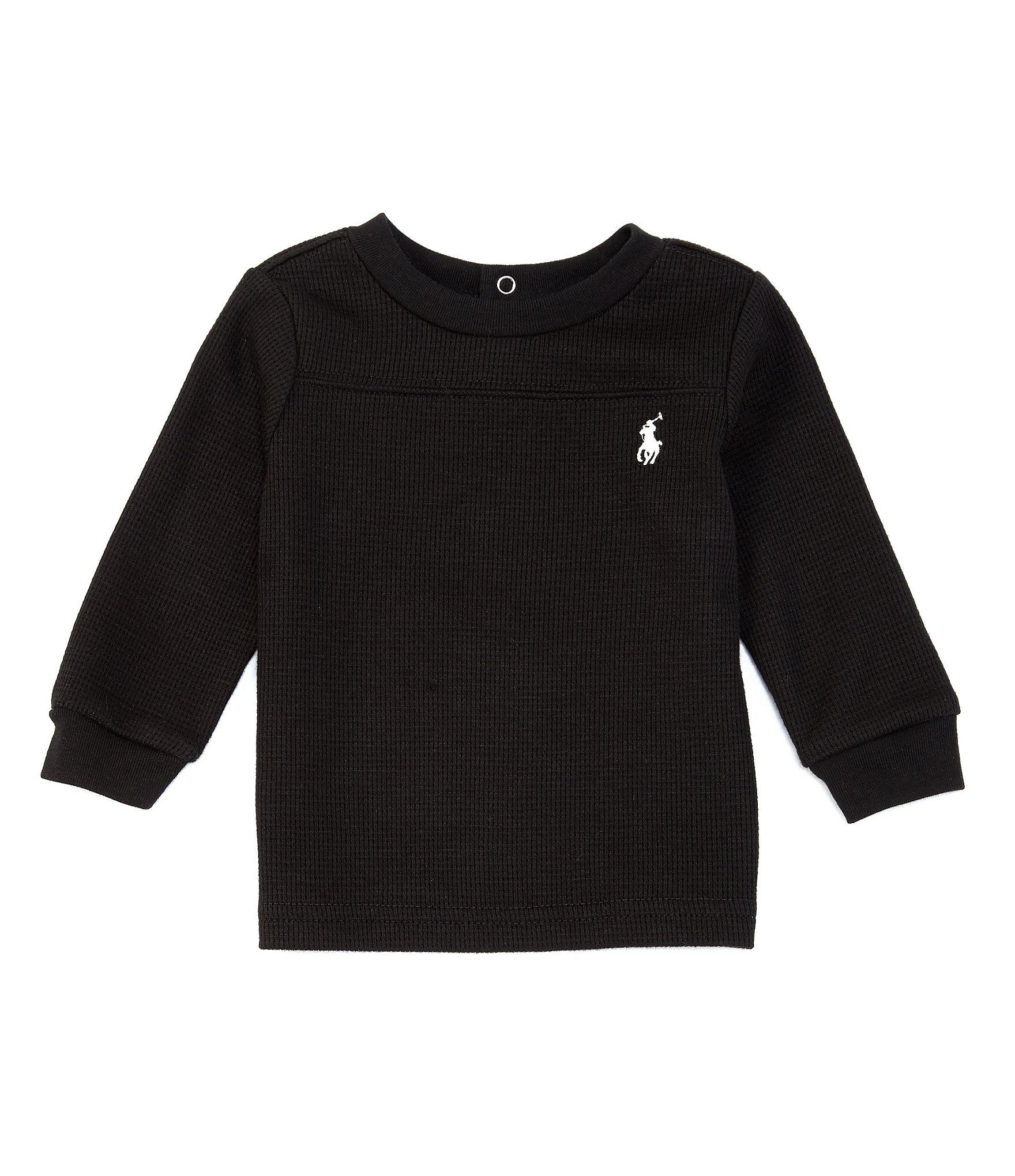 Photo of Ralph Lauren Childrenswear Baby Boys 3-24 Months Long-Sleeve Waffle-Knit Tee | Dillard's