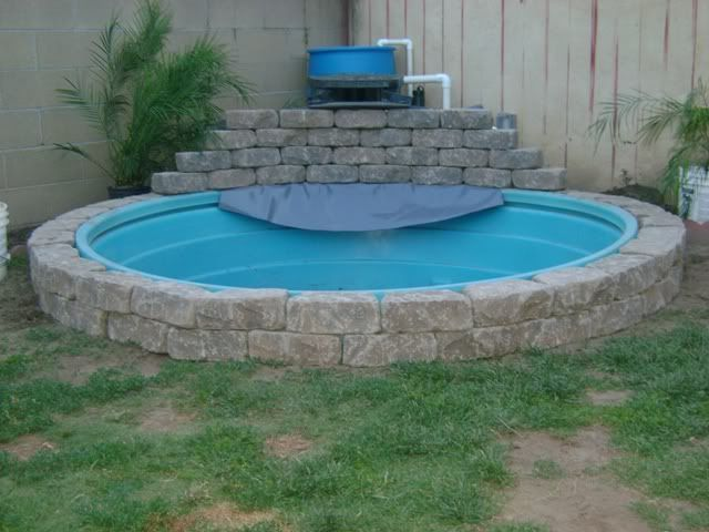 Image result for round livestock tank pool garrafas - How to filter a stock tank swimming pool ...