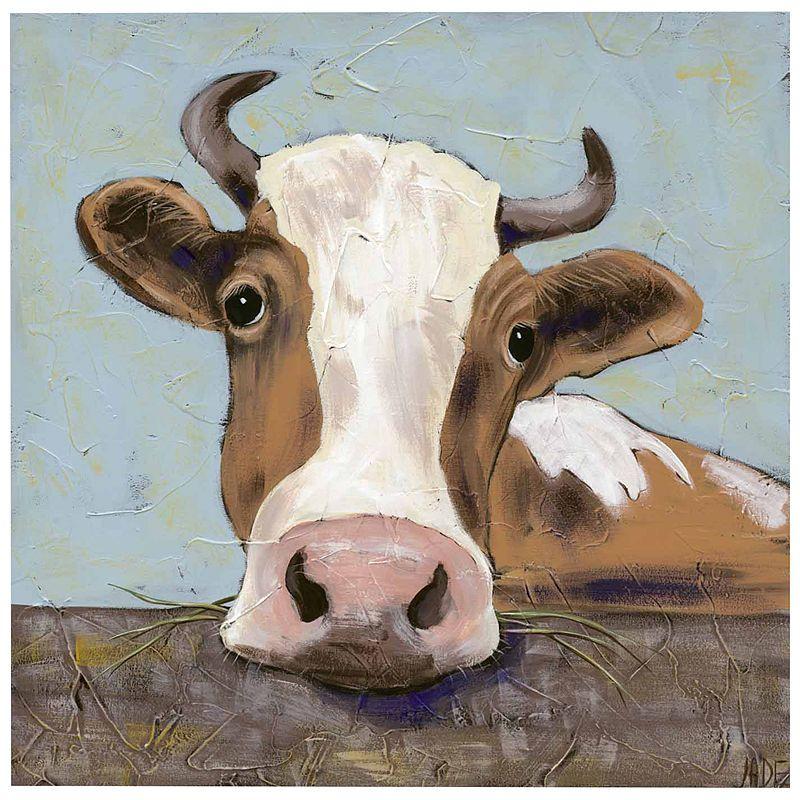 Steere Over The Fence Canvas Wall Art Art Cow Art Canvas Art