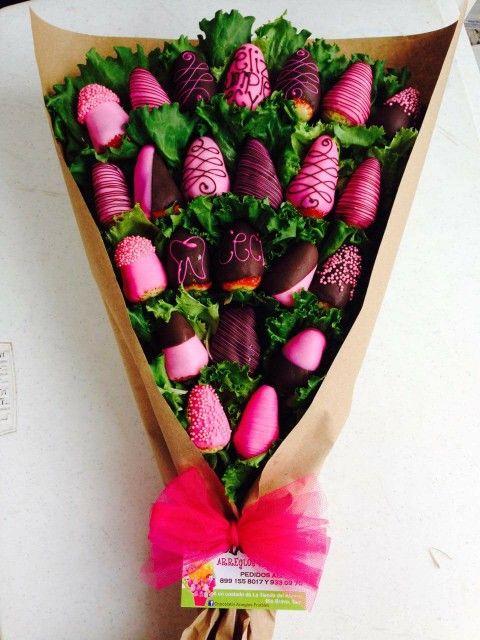 Valentines Fruit Bouquet