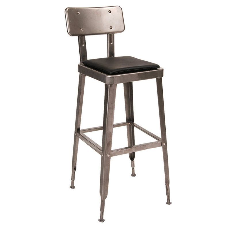 Laurie Bistro Style Metal Bar Stool In Clear Finish