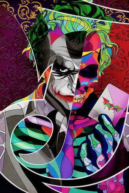Living Room Art Home Wall Mural Decor Joker Batman Dark Knight Oil painting Printed On Canvas For Home Decoration