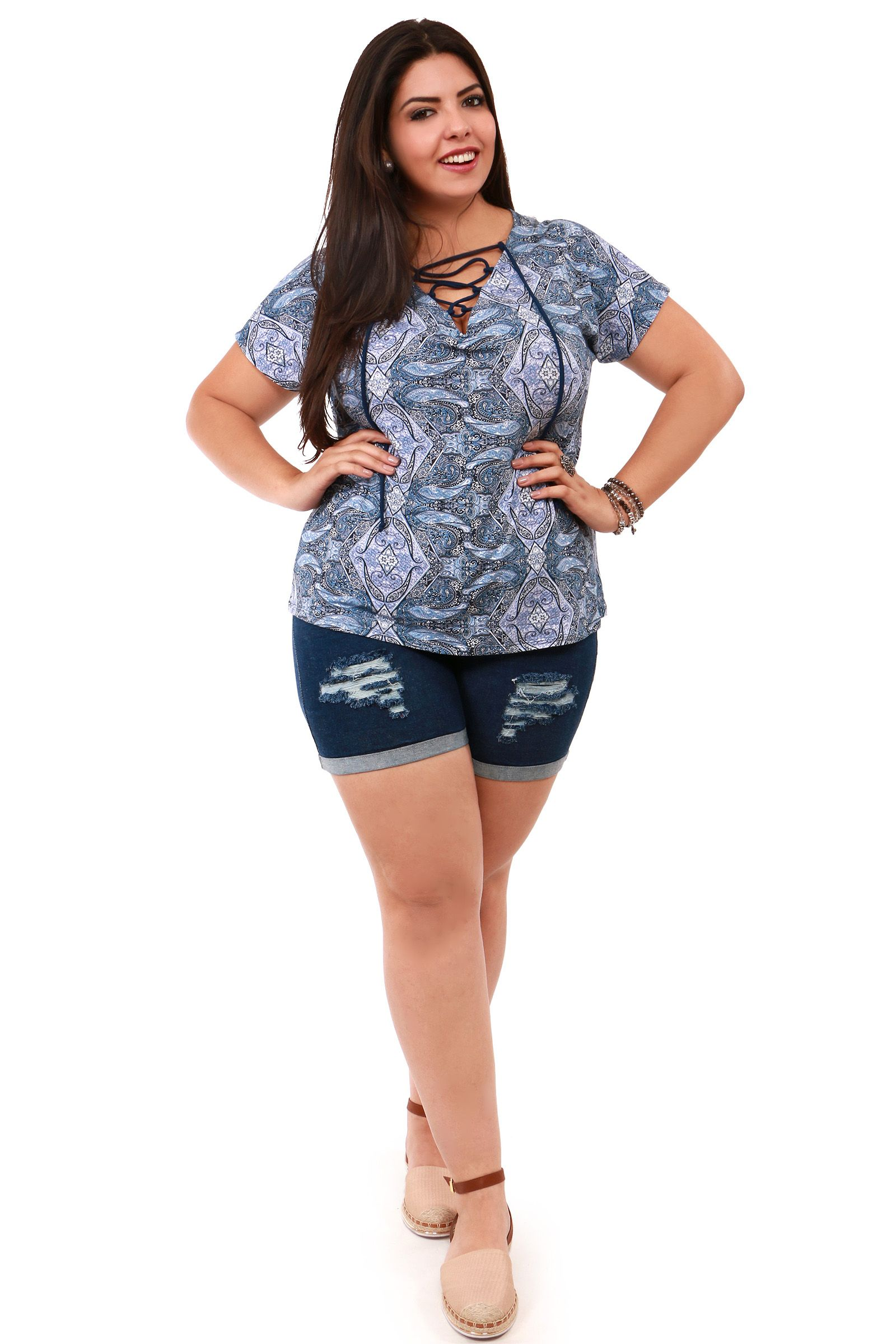 2d7af42d4def Shorts rasgado Plus Kauê   Moda Plus Size -Shorts em alta kauê ...