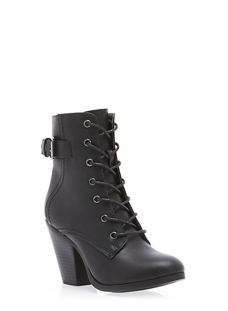 Lace-Up Booties... I need these shoes but in chestnut instead of black!