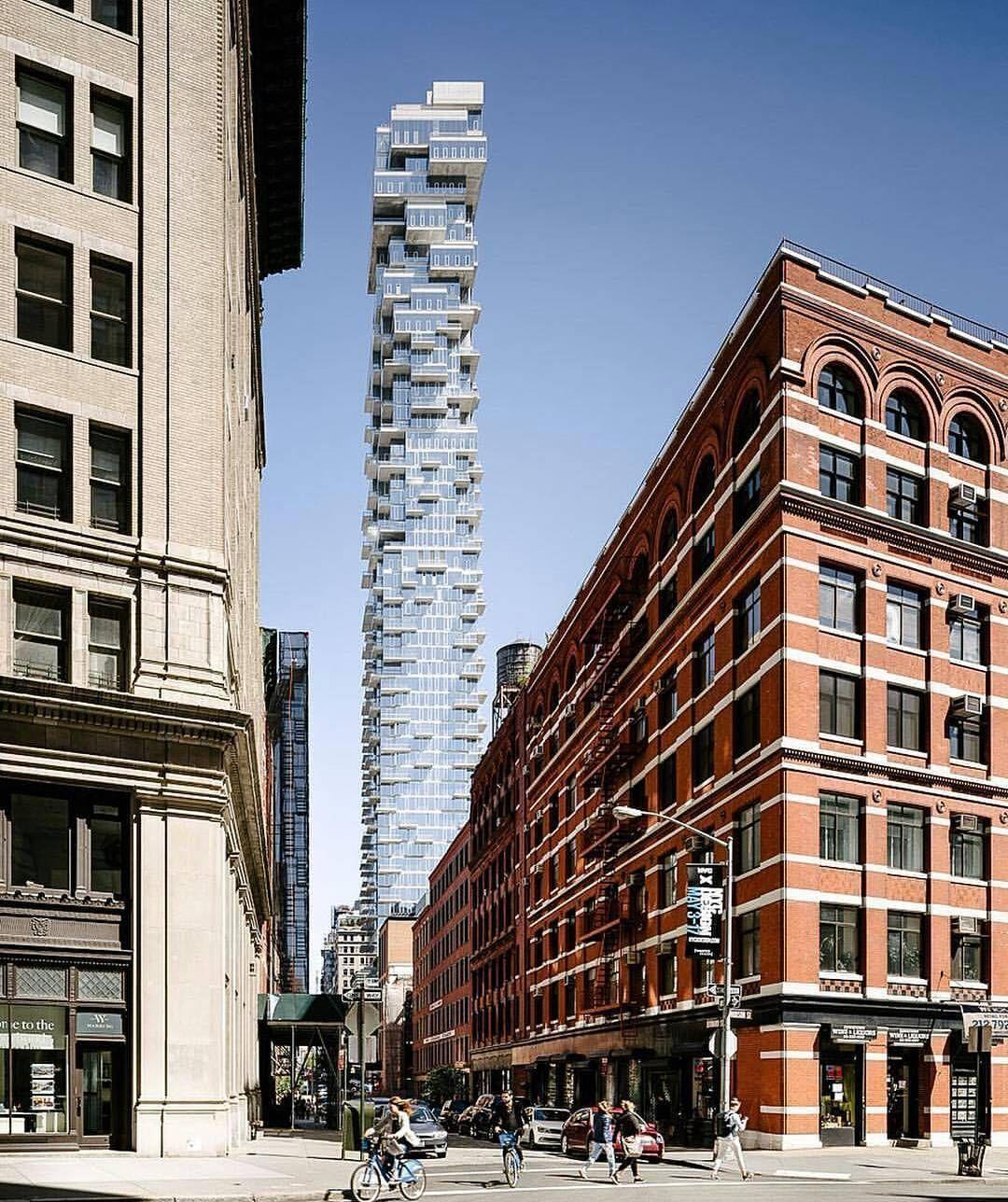 Modern Architecture Nyc 56 leonard new york 2016_herzog & de meuron | wohnhochhaus