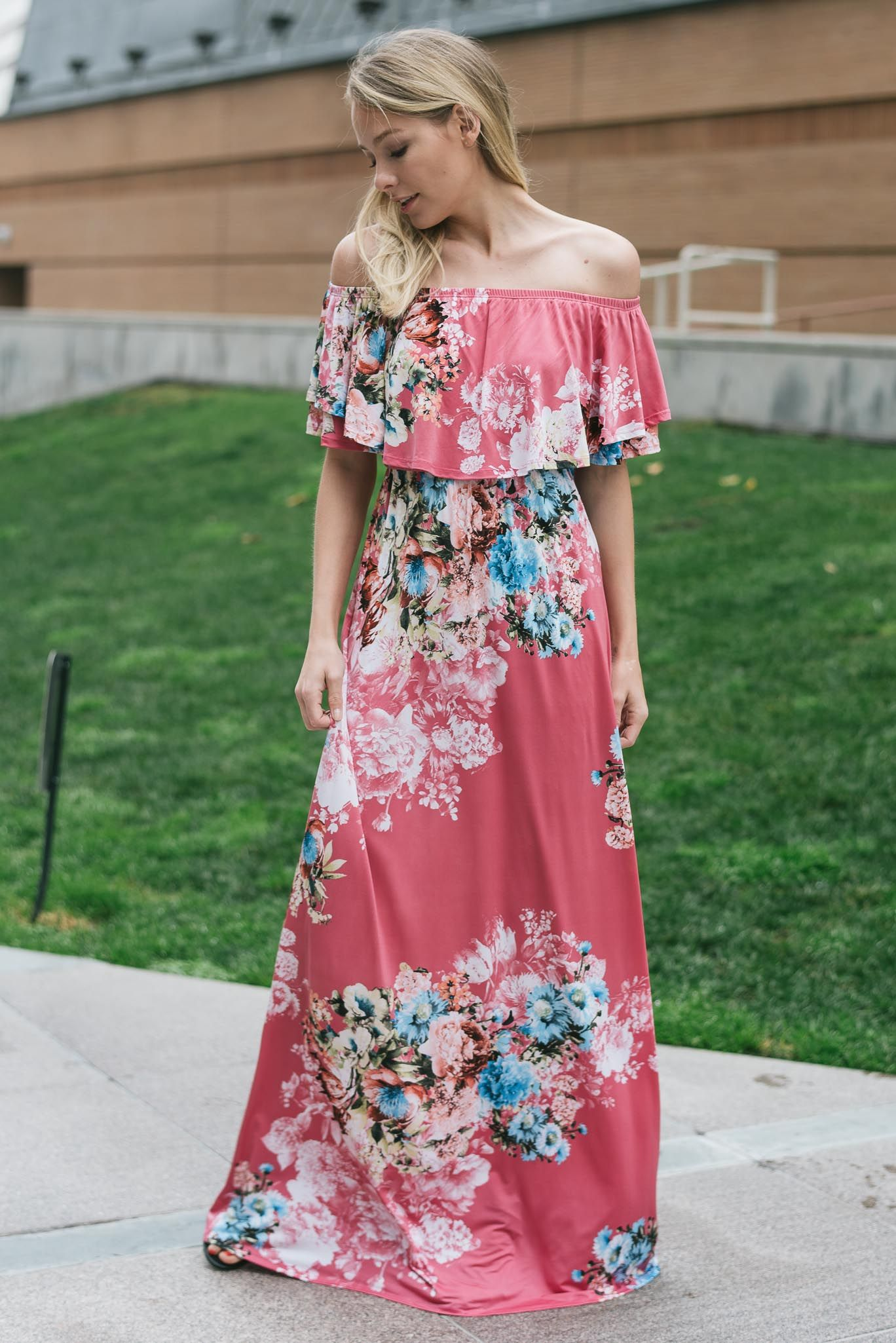 Emma Maxi Dress Floral Off Shoulder Jardinbymacris Jardinbymacriscom Dresses In 2018 Pinterest Wedding And