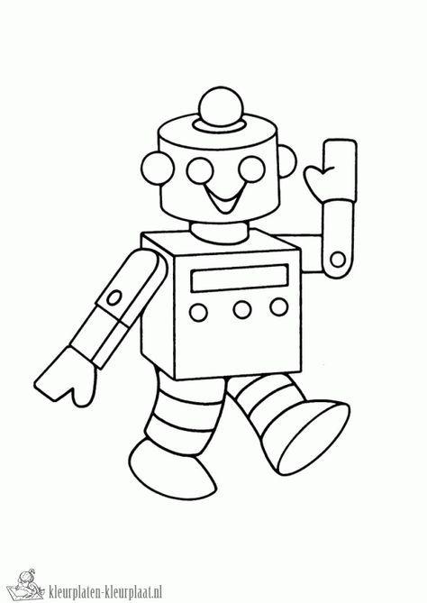 Kleurplaten Robot Kleurplaten Kleurplaat Nl Robotten Robot