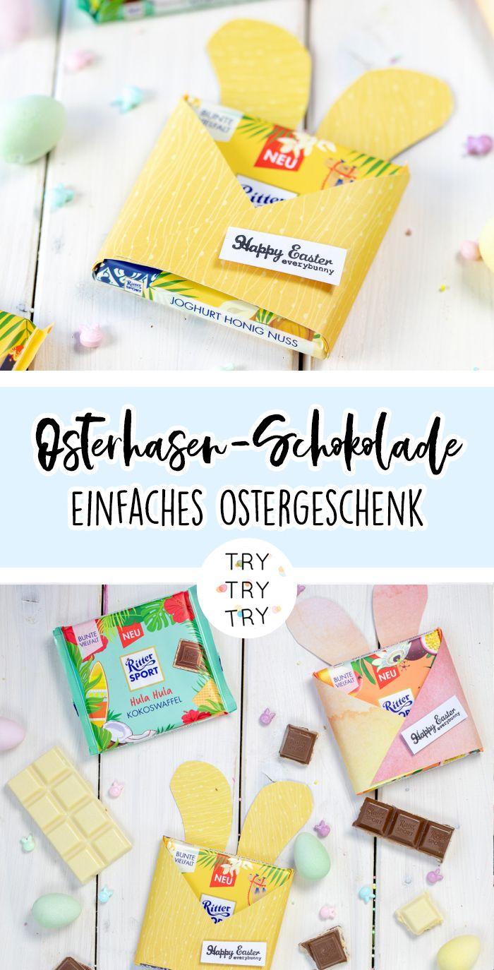 DIY Osterhasen-Schokoladenverpackungen