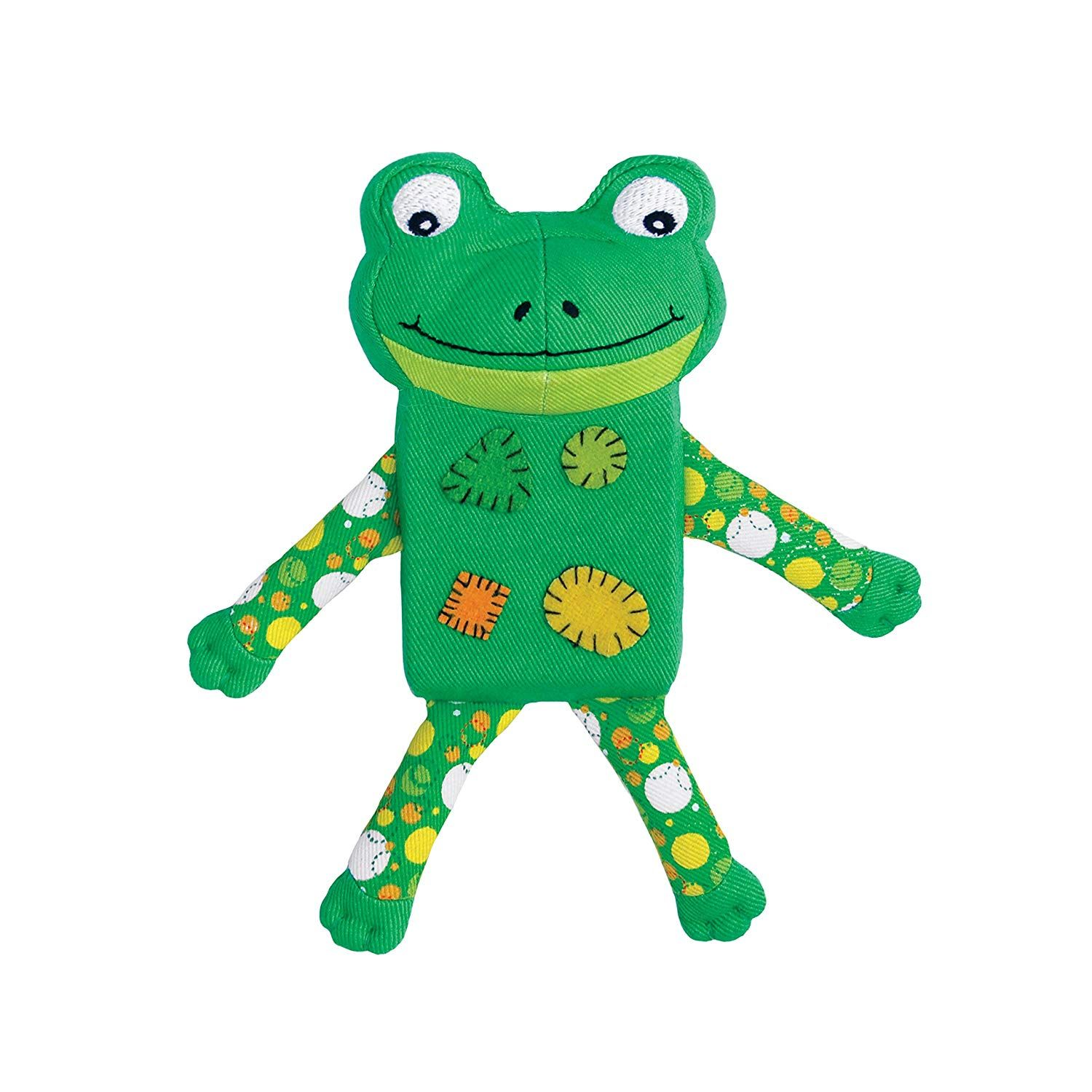 Kong Zillowz Frog Dog Toy Small Green We Appreciate You For