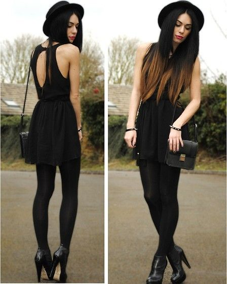 Image result for dress in all black