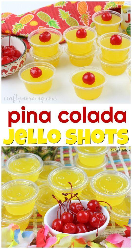 Pina Colada Jello Shots - Crafty Morning