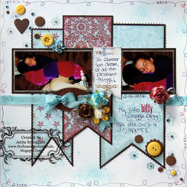 scrapbook layout - Lily Bee papers - ColourQ #135