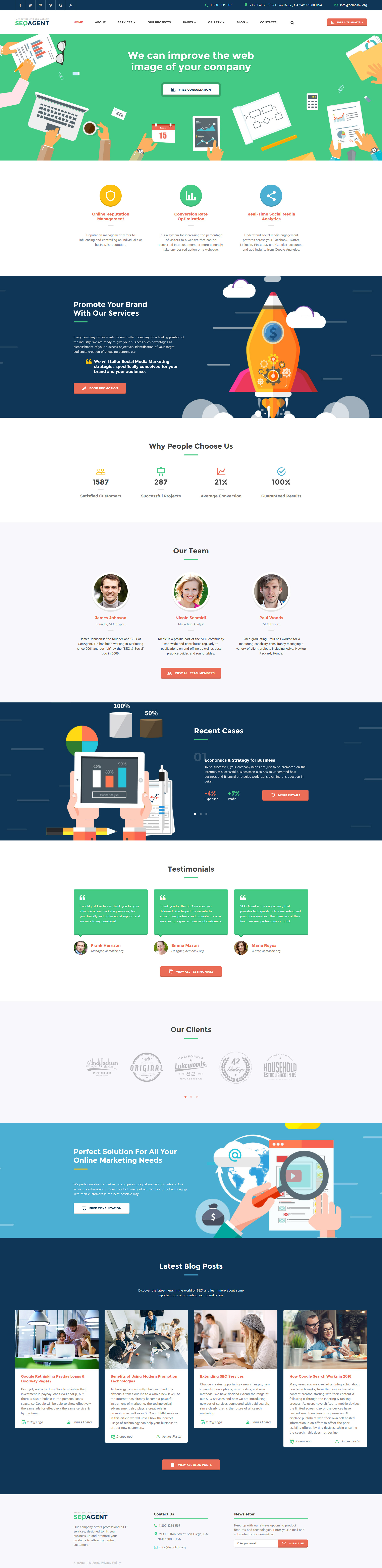 SEO Website Responsive Website Template | Seo, Template and Website
