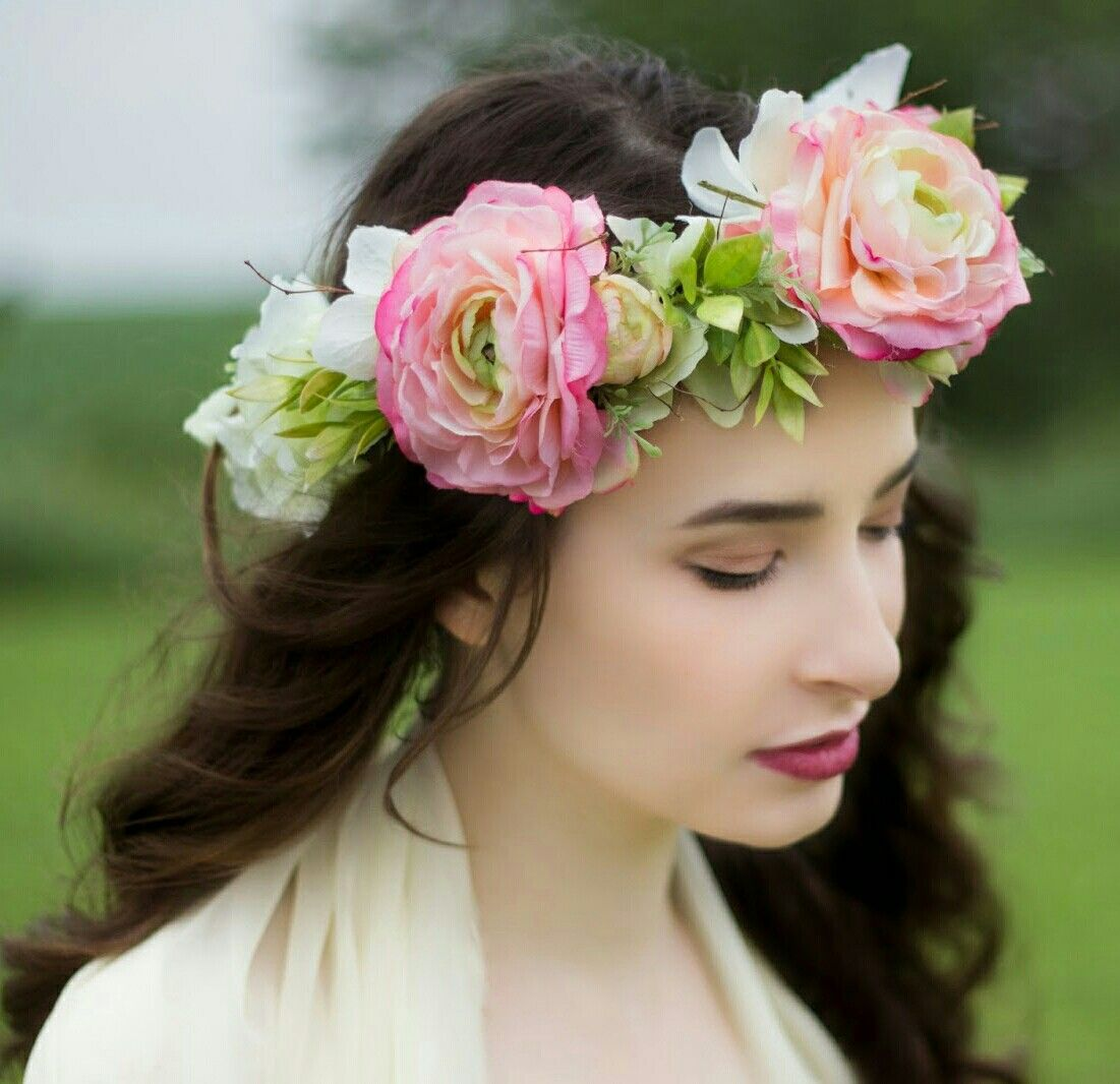Fresh floral bridal crown fresh floral crownhaloheadpiece fresh floral bridal crown izmirmasajfo
