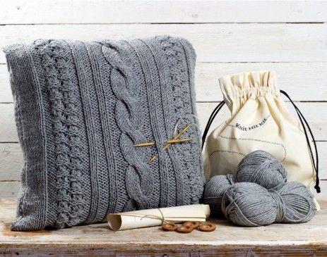 Chunkyknit tyynynpäällinen, harmaa