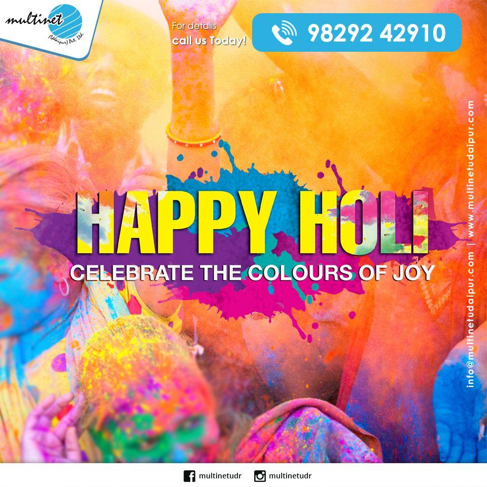 Celebrate the colours of joy... For details call us Today! +91 98292 42910. #holi #happyholi #india #festival #holifestival #love #colors #colours #color #holipowder #festivalofcolors #holifestivalofcolours #holihai #festivalofcolours #holifest #indianfestival #holiparty