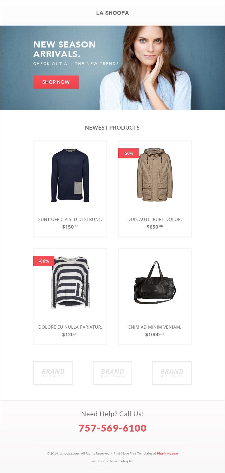 Download A Minimal Clean Ecommerce Email Template For Free