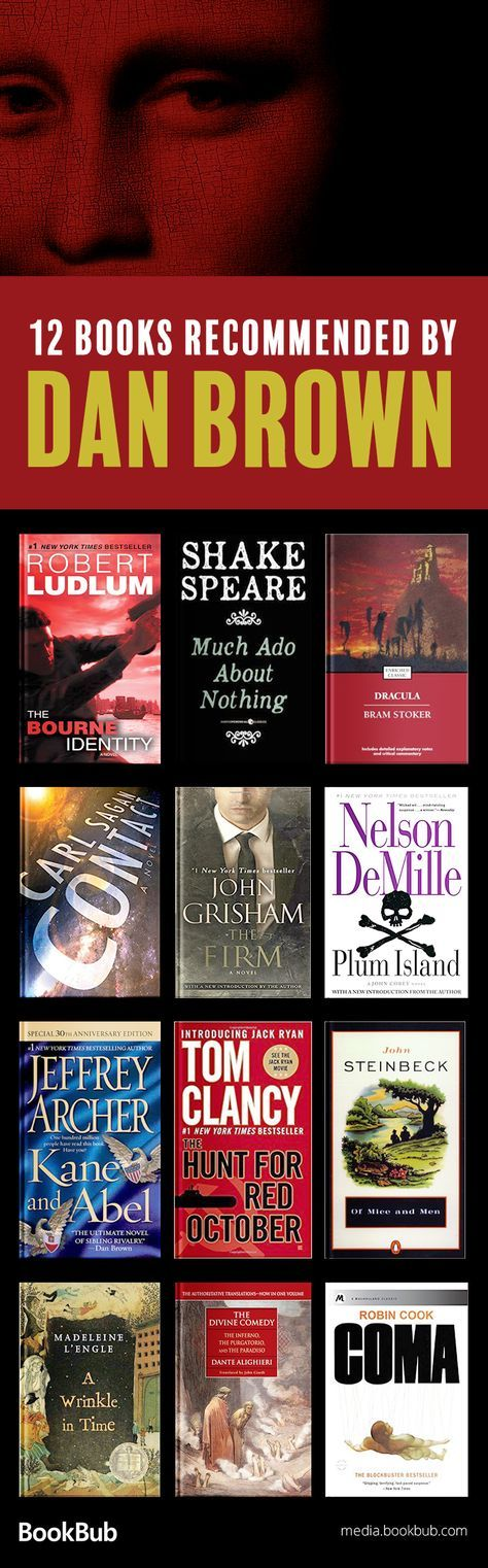 12 books recommended by bestselling author Dan Brown. If you're looking for books like Dan Brown novels, this is the reading list for you.