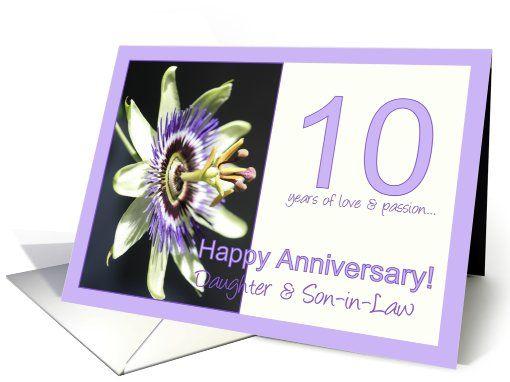 Wedding Anniversary Inspirational Poems Daughter Son In Law: 10th Anniversary For Daughter & Son In Law