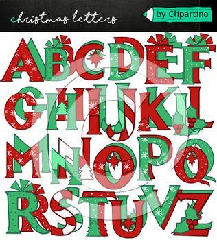 Christmas Alphabet Clipart 4 Classical Christmas Alphabet Clip