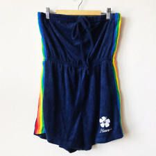 c677f22eb700 Vintage 70s 80s Tube Top Terry Cloth Hawaii Romper Rainbow Playsuit Cover Up