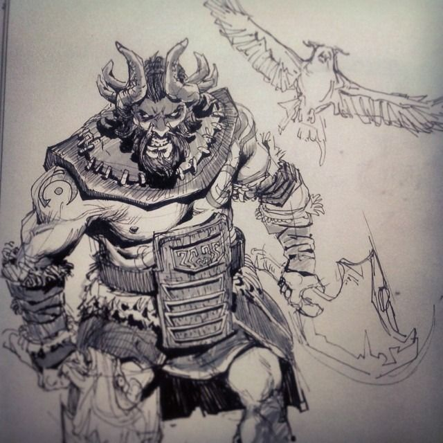 Today's hero is The Beastmaster, I'm accepting comment suggestions for next heroes (: #dota2 #ti4 #sketch #drawing