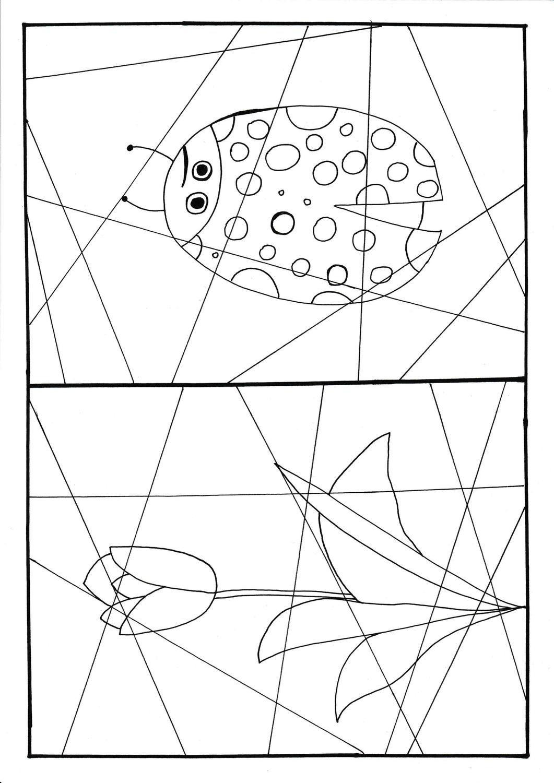 Abstrakte Fruhlingsbilder Unterrichtsmaterial In Den Fachern Fachubergreifendes Kunst Abstrakt Bilder Zum Ausmalen Abstrakte Bilder