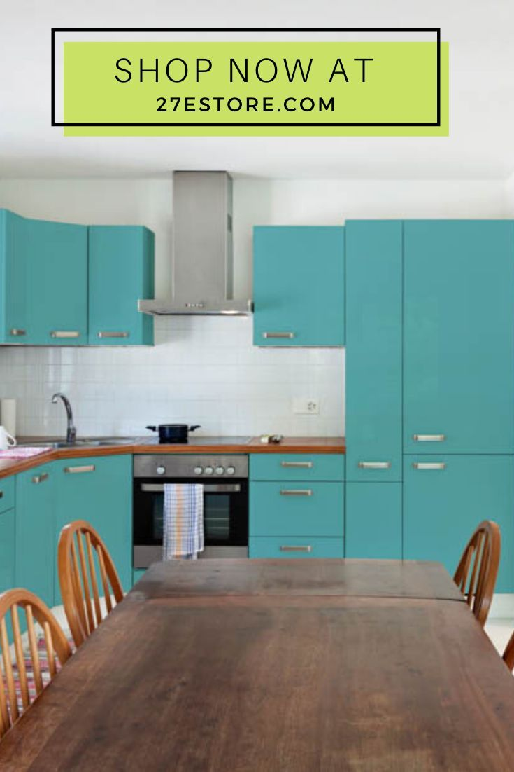 Turquoise The Cool Kitchen Color Cabinet Trend Rustic Kitchen Design Rustic Kitchen Kitchen Inspiration Design