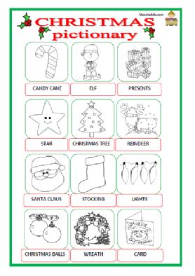 Christmas Pictionary.Christmas Pictionary Pdf Christmas Games School