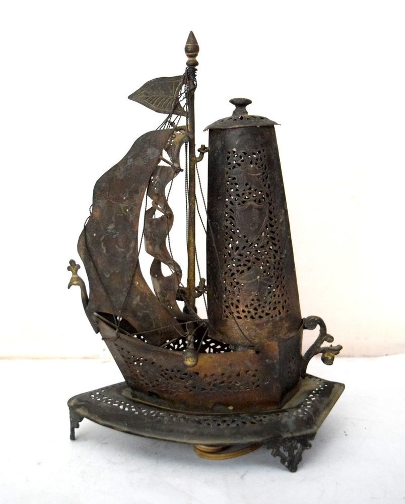 Terrific Vintage Nice Decorative Handmade Boat Shape Old Ship Brass Interior Design Ideas Clesiryabchikinfo