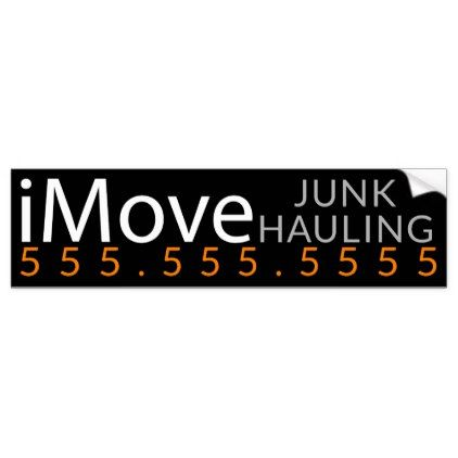 Imove clutter hauling removal business promotion bumper sticker craft supplies diy custom design supply special