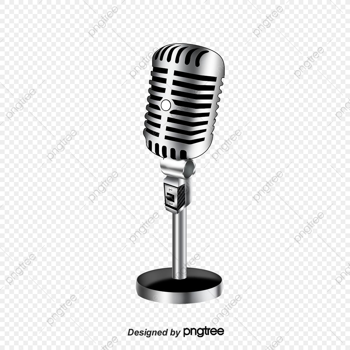 Cartoon Microphone Cartoon Microphone Gold Microphone Png Transparent Clipart Image And Psd File For Free Download Microphone Clip Art Cartoon