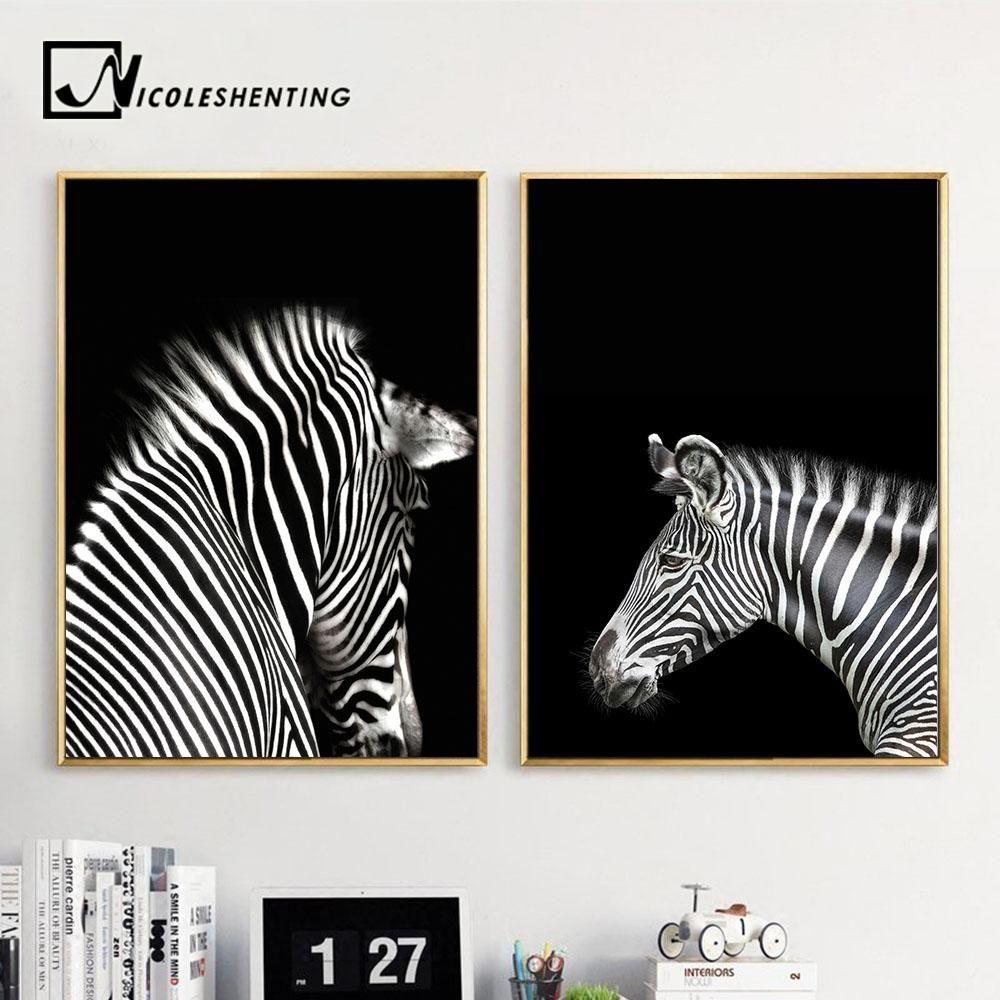 Animal Black White Art Photo Print Canvas Poster Vintage Decor No Frame A177