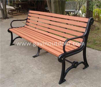 Recycled Plastic Wood And Wrought Iron Garden Bench Outdoor